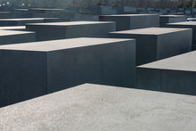 Concrete Slabs That Make Up A Memorial In Berlin