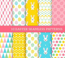 Ten Different Easter Seamless ...