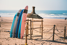 Different Colors Of Surf On A ...