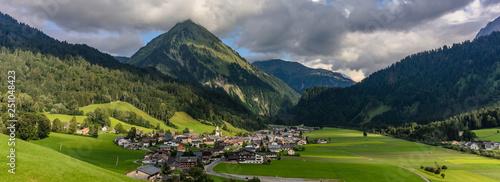 village of schoppernau, bregenzer wald, vorarlberg, austria - 251048423