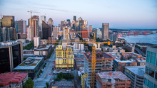 Aerial View Of Downtown Seattl...