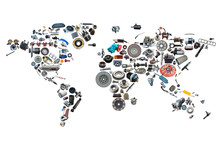 World Map Of The Auto Parts Fo...