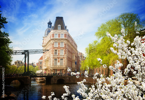 Photo  old town of  Amsterdam