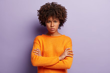 Angry Sad Young Black Female M...