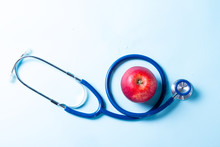 Healthcare Concept On Blue