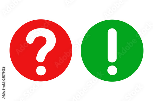 Fotografia, Obraz  Interrogative and exclamatory button - stock vector