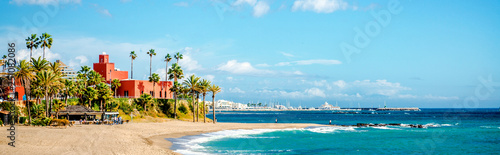 Photo sur Aluminium Palmier Panorama Benalmadena town. Malaga, Spain