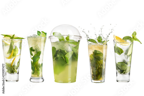 Mojito cocktail with mint and lime Wallpaper Mural