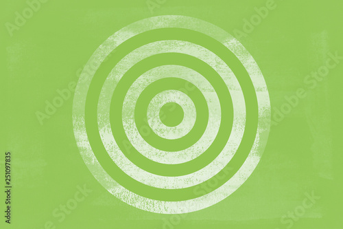 Fotomural  Green Target Tone Icon Texture Art Background Pattern Design Graphic