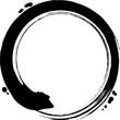 丸 円 黒 筆文字