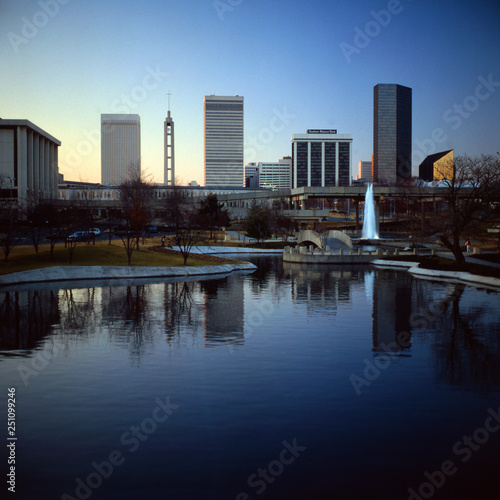 Photographie  Skyline, Charlotte 1981, North Carolina