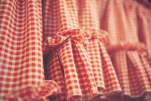Red Plaid Plaid Curtain