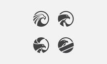 Eagle Pack Logo, Eagle Icon, Eagle Head, Vector
