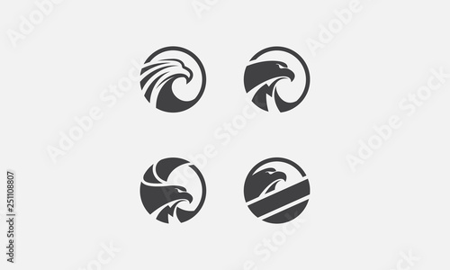 Fotografia eagle pack logo, eagle icon, eagle head, vector