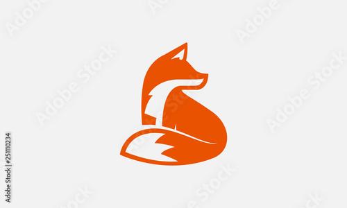 Photo unique fox logo, fox illustration, vector