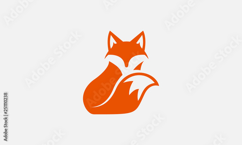 unique fox logo, fox illustration, vector Canvas Print