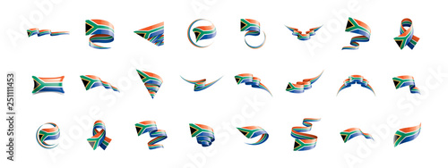 Fototapeta south africa flag, vector illustration on a white background