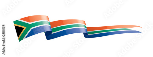 Papel de parede south africa flag, vector illustration on a white background