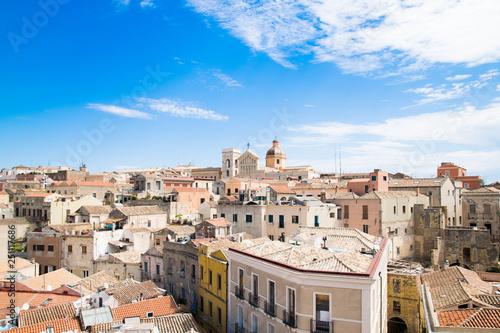 Obraz na plátně View of Cagliari, Sardinia, Italy.