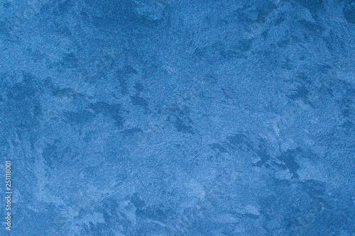 Fototapety, obrazy: Texture of blue decorative plaster.