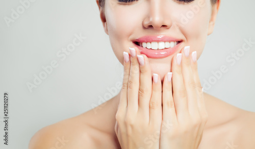 Young woman face closeup Wallpaper Mural