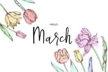 Inscription Hello March On Bac...
