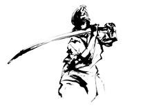 墨絵の剣士