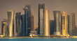 The skyline of West Bay and Doha City, Qatar