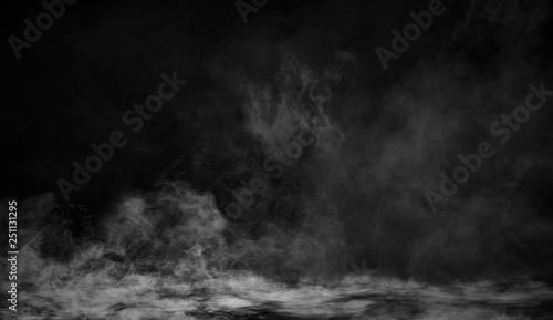 Fotografía Smoke texture overlays on islotaed background