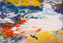 Detail Of Abstract Impressionist Artwork