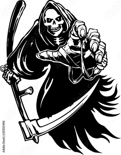Photo Grim Reaper Vector Illustration