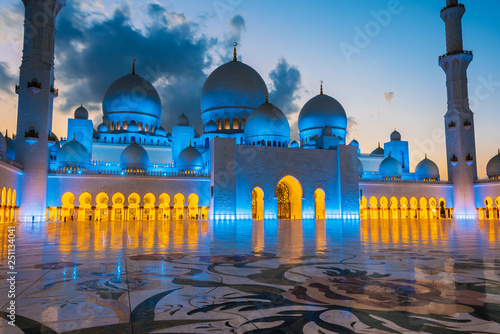 Poster Abou Dabi Sheikh Zayed Grand Mosque in Abu Dhabi, United Arab Emirates