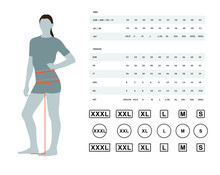 Measurements For Clothing. Vec...