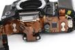 Innere und Elektronik einer modernen Spiegelreflexkamera