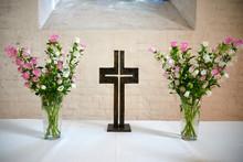 Altar With Crucifix In A Church