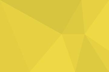 Abstract background pattern made with triangles in tones of yellow color. Modern, simple, futuristic geometric vector art.