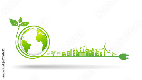 Fotografía World environment and sustainable development concept, vector illustration