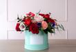 Leinwandbild Motiv Beautiful bouquet of flowers in a box
