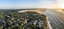 Aerial Panorama Of Arcachon Dune Du Pilat Dune Du Pyla