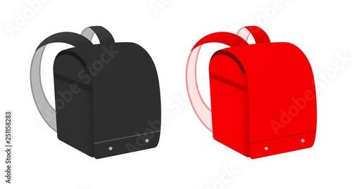 Fotografía  黒と赤のランドセル