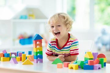 Kids toys. Child building t...