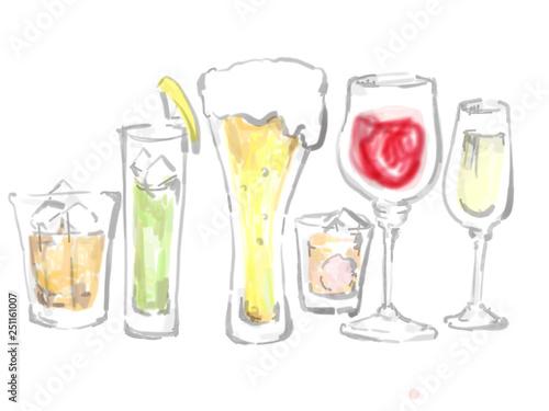 アルコール集合 お酒集合 アルコール お酒  Canvas Print