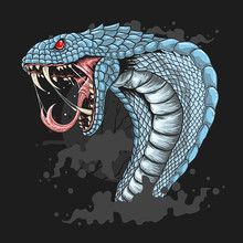 King Cobra Head Detail Eps Vector