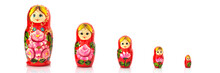 Set Of Five Matryoshka Russian...