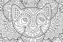 Coloring Book Page With Funny ...