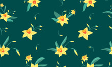 Seamless Pattern Of  Small Nar...