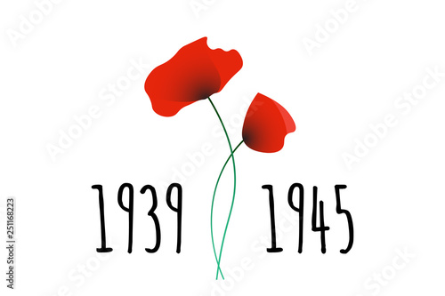 Fotografia  Remembrance and Reconciliation Day vector illustration with symbolic commemorati