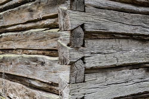Photo Log Cabin Corner Detail