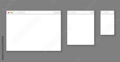 Fotografía  Browser mockups
