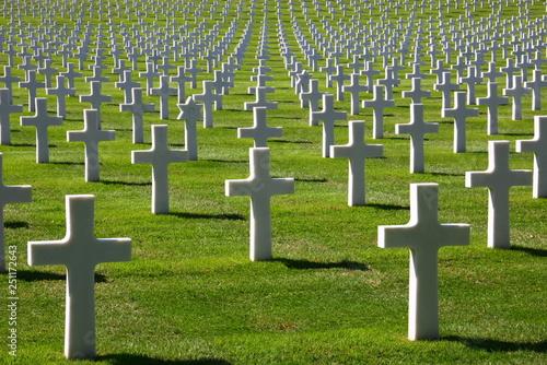 amerikanischer soldatenfriedhof Canvas Print